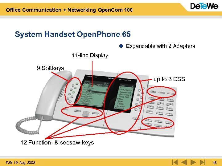 Office Communication + Networking Open. Com 100 System Handset Open. Phone 65 l Expandable