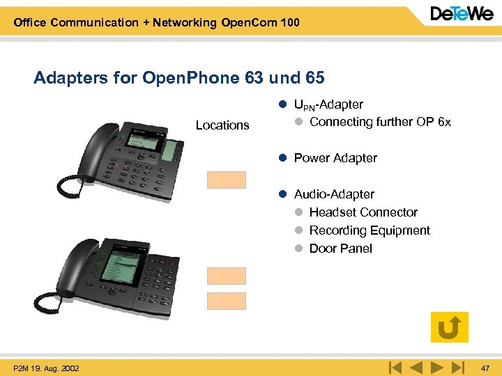 Office Communication + Networking Open. Com 100 Adapters for Open. Phone 63 und 65