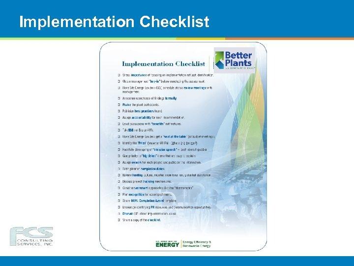 Implementation Checklist