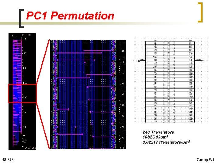 PC 1 Permutation 240 Transistors 10825. 03 um 2 0. 02217 transistors/um 2 18