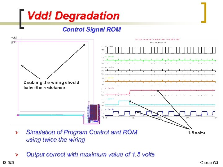 Vdd! Degradation Control Signal ROM Doubling the wiring should halve the resistance Ø Ø