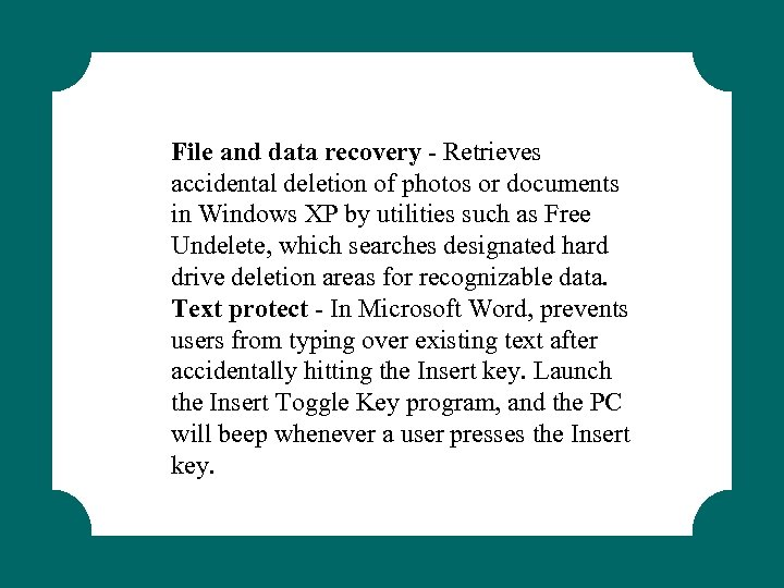 File and data recovery - Retrieves accidental deletion of photos or documents in Windows