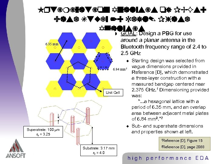 Optimization Analysis of PBGs: Case Study 2: Refl. Phase Analysis w GOAL: Design a