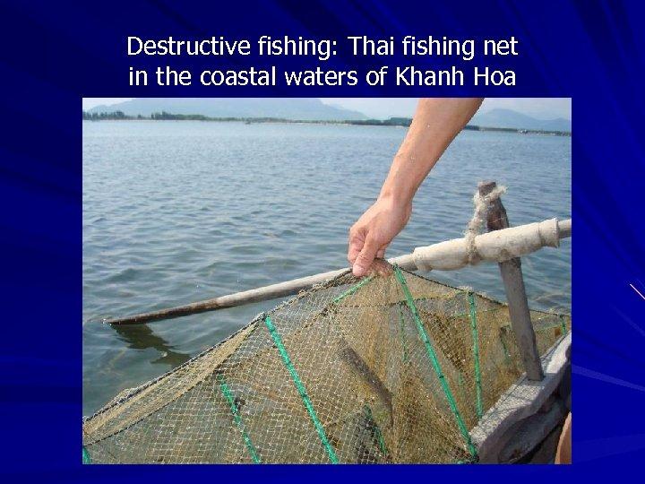 Destructive fishing: Thai fishing net in the coastal waters of Khanh Hoa