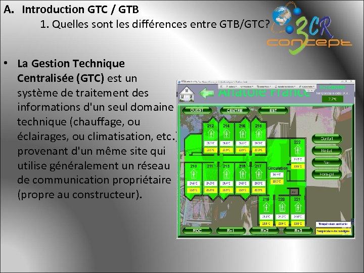 A. Introduction GTC / GTB 1. Quelles sont les différences entre GTB/GTC? • La