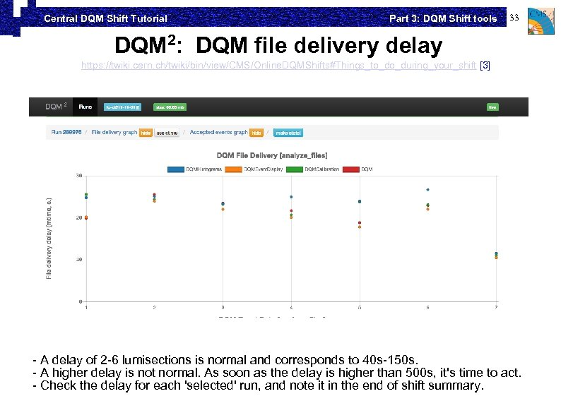 Central DQM Shift Tutorial Part 3: DQM Shift tools 33 DQM 2: DQM file
