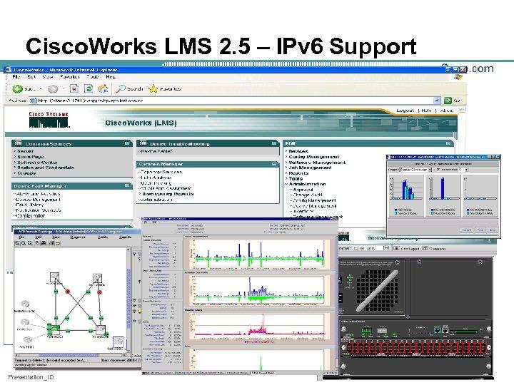 Cisco. Works LMS 2. 5 – IPv 6 Support Presentation_ID 58
