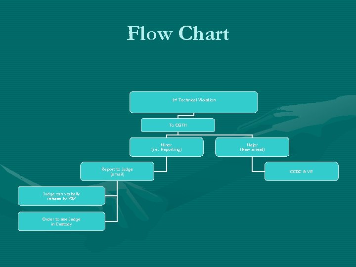 Flow Chart 1 st Technical Violation To CGTH Minor (i. e. Reporting) Report to