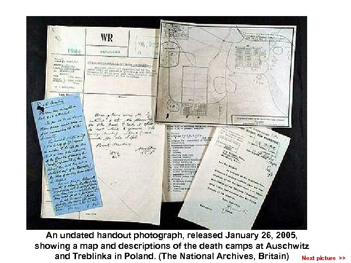 An undated handout photograph, released January 26, 2005, showing a map and descriptions of