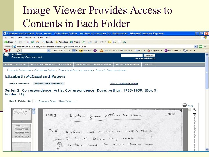 Image Viewer Provides Access to Contents in Each Folder