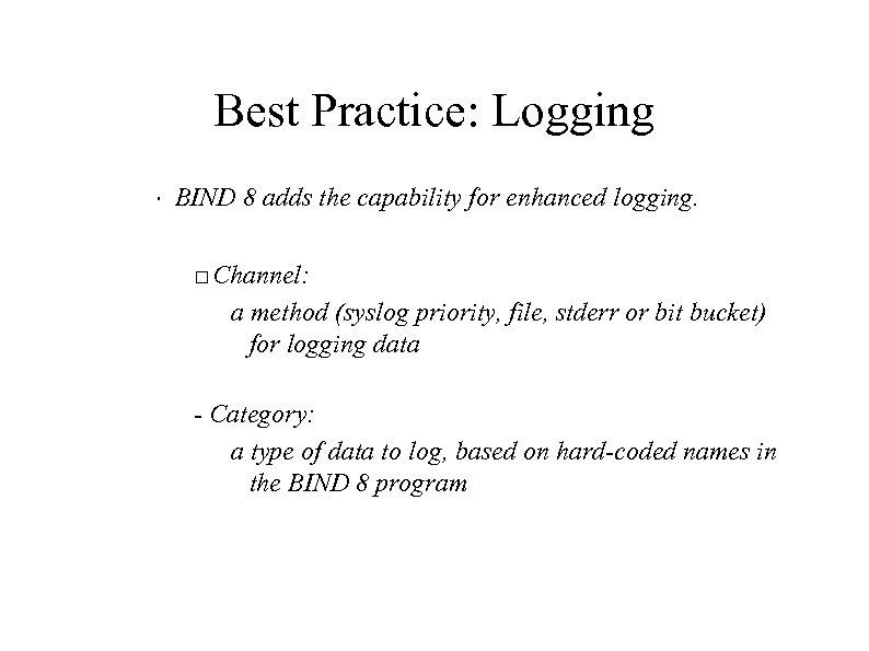 Best Practice: Logging