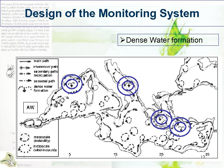 Design of the Monitoring System ØDense Water formation 12