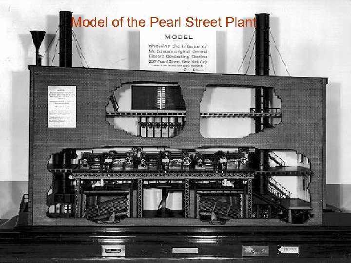 Model of the Pearl Street Plant