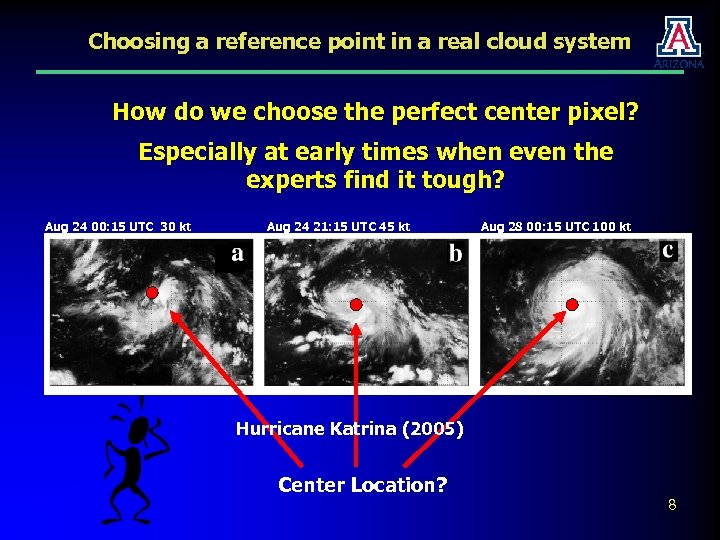 Choosing a reference point in a real cloud system How do we choose the