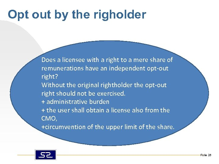 Opt out by the righolder Does a licensee with a right to a mere