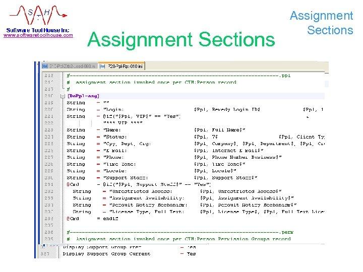 www. softwaretoolhouse. com Assignment Sections