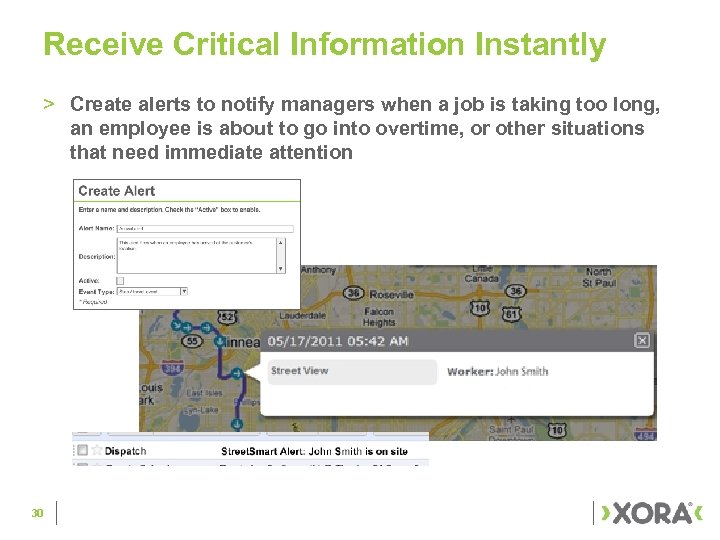 Receive Critical Information Instantly > Create alerts to notify managers when a job is
