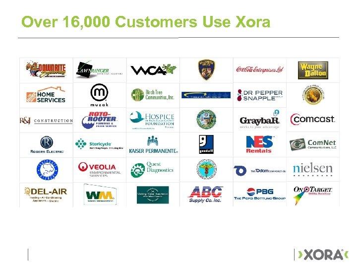 Over 16, 000 Customers Use Xora