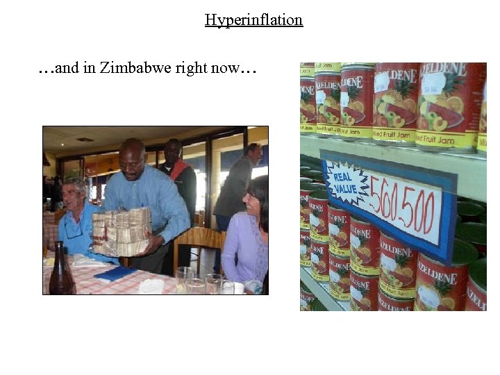 Hyperinflation …and in Zimbabwe right now…