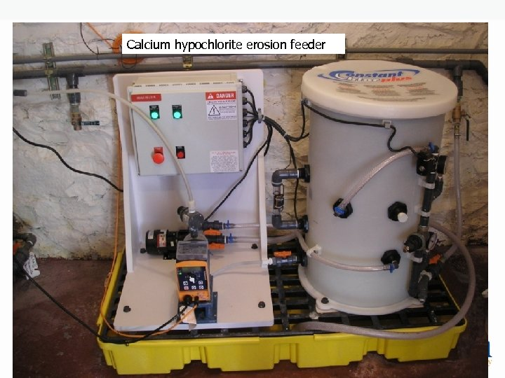 Calcium hypochlorite erosion feeder