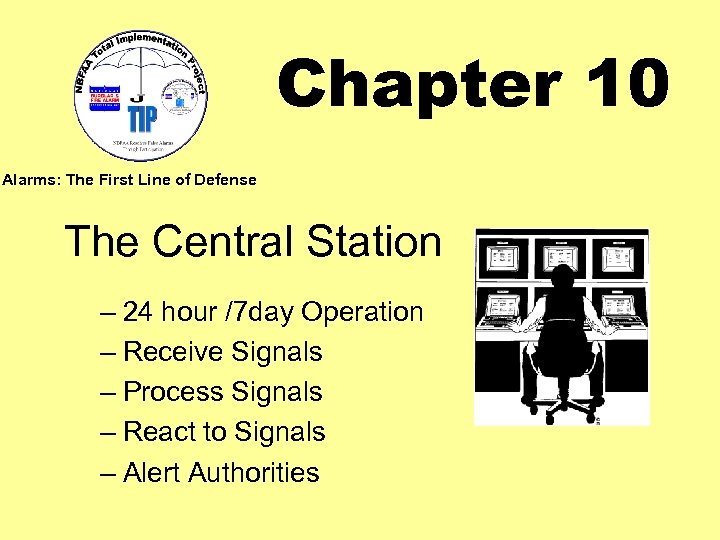 Chapter 10 Alarms: The First Line of Defense The Central Station – 24 hour