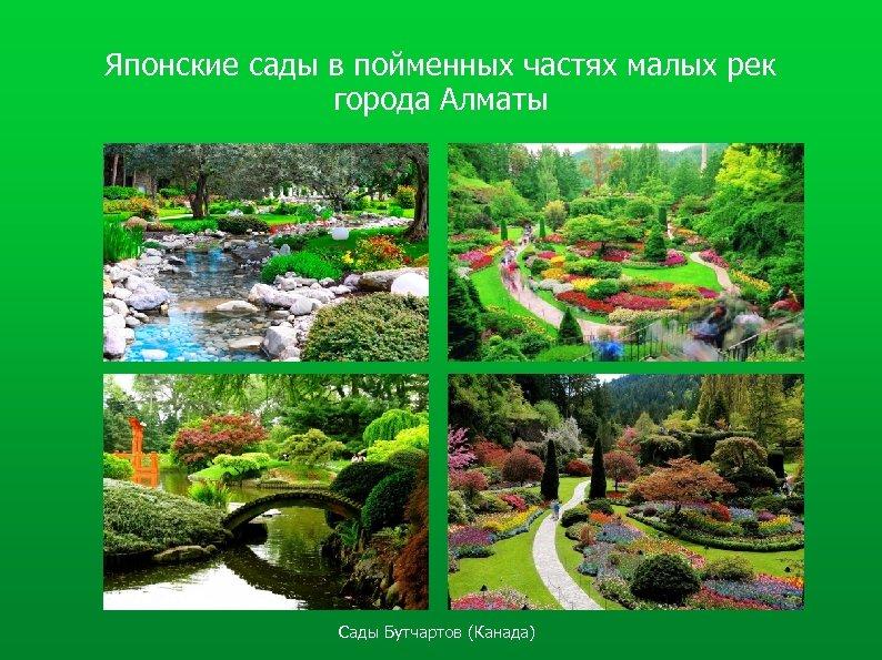 Японские сады в пойменных частях малых рек города Алматы Сады Бутчартов (Канада)