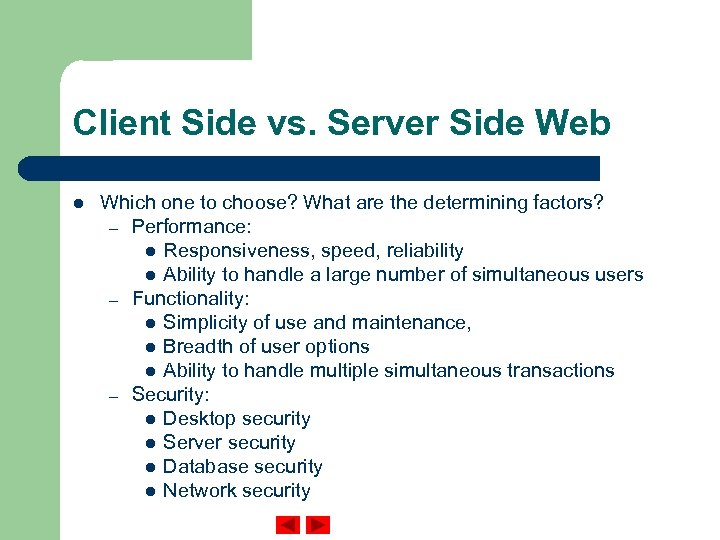Client Side vs. Server Side Web l Which one to choose? What are the