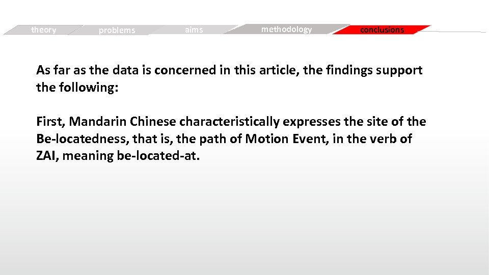 theory Simple problems aims Free methodology conclusions As far as the data is concerned