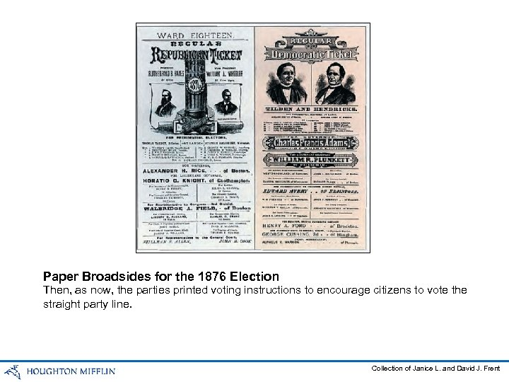 Paper Broadsides for the 1876 Election Then, as now, the parties printed voting instructions