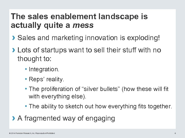 The sales enablement landscape is actually quite a mess › Sales and marketing innovation
