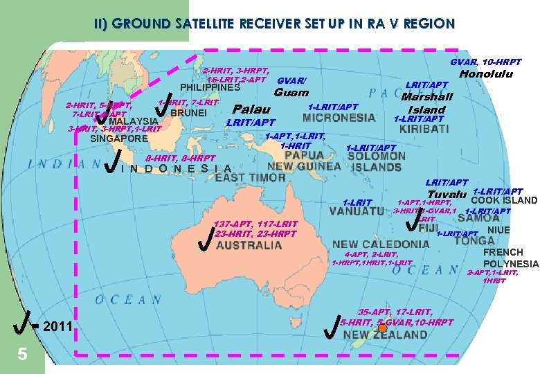 II) GROUND SATELLITE RECEIVER SET UP IN RA V REGION GVAR, 10 -HRPT 2
