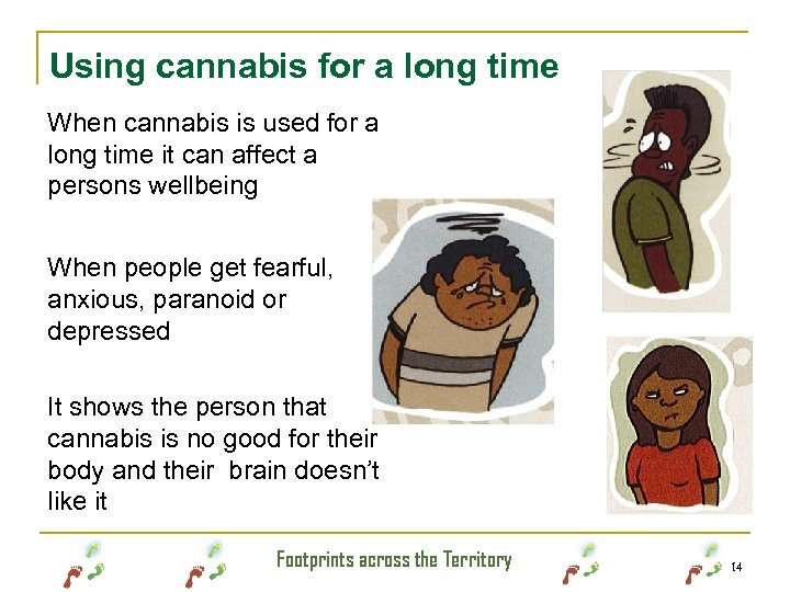 Using cannabis for a long time When cannabis is used for a long time