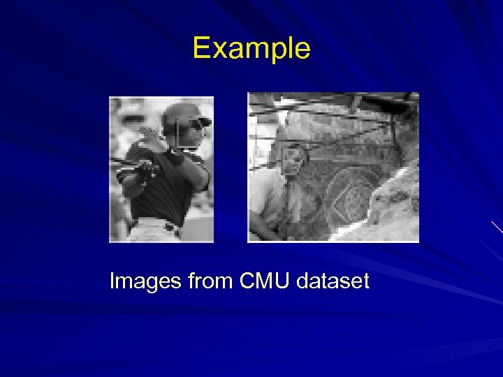 Example Images from CMU dataset