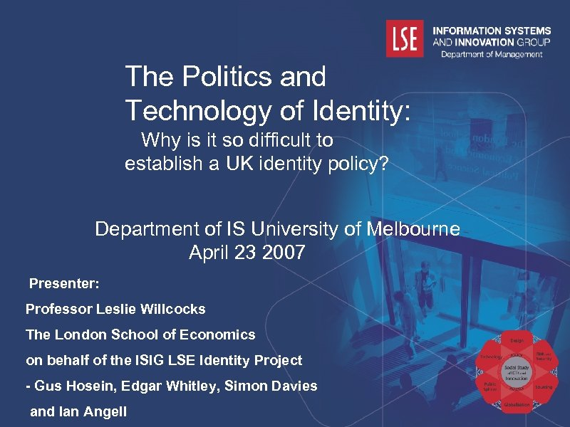 The Politics and Technology of Identity: Why is it so difficult to establish a