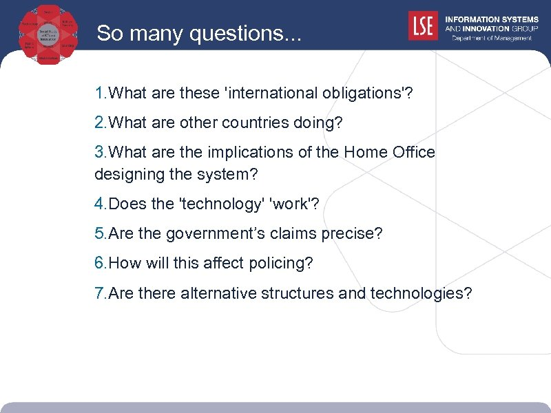 So many questions. . . 1. What are these 'international obligations'? 2. What are