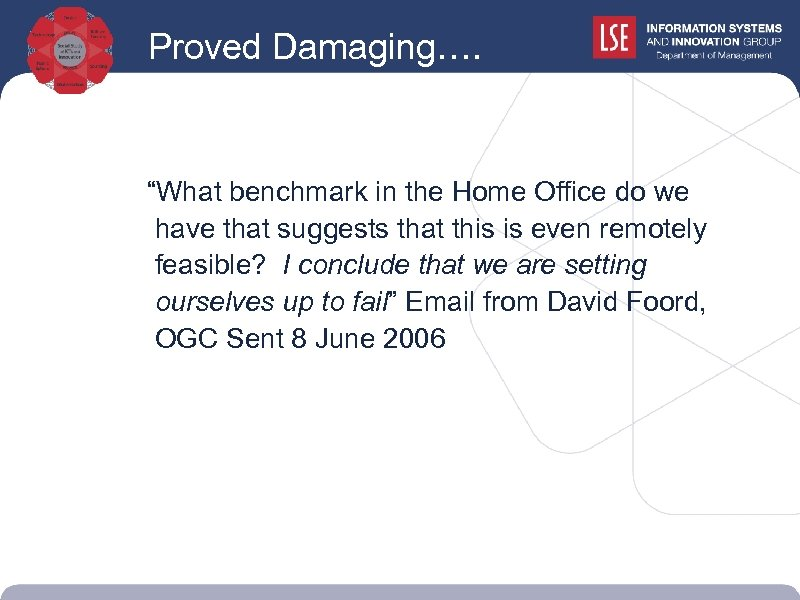 """Proved Damaging…. """"What benchmark in the Home Office do we have that suggests that"""