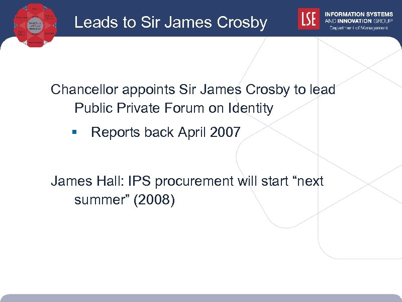 Leads to Sir James Crosby Chancellor appoints Sir James Crosby to lead Public Private