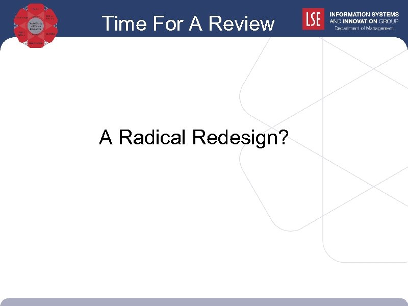 Time For A Review A Radical Redesign?