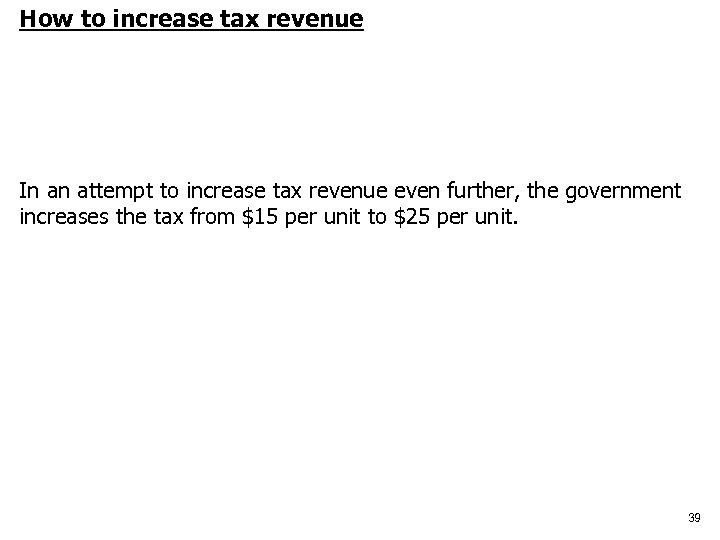 How to increase tax revenue In an attempt to increase tax revenue even further,