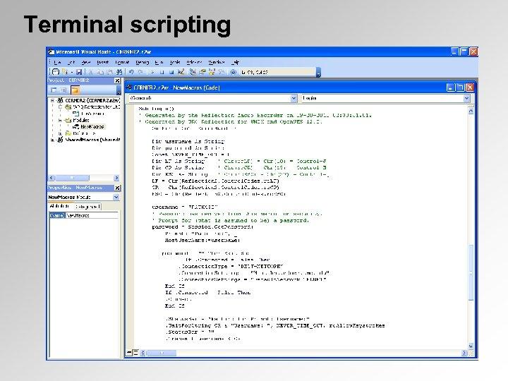 Terminal scripting