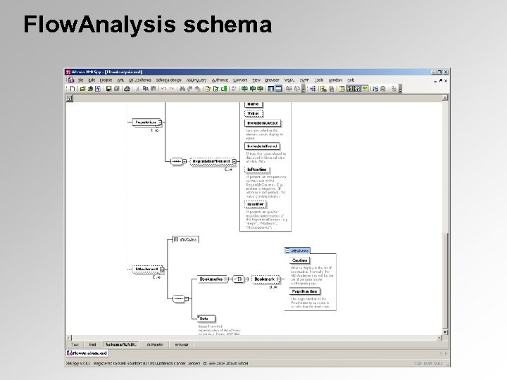 Flow. Analysis schema
