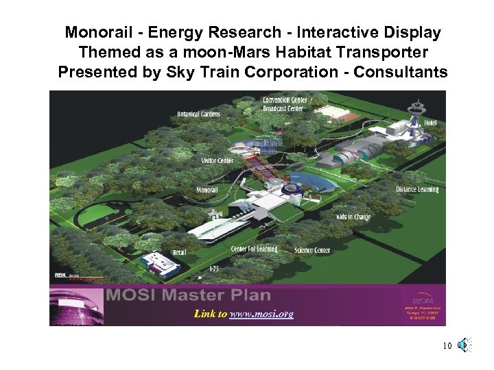 Monorail - Energy Research - Interactive Display Themed as a moon-Mars Habitat Transporter Presented
