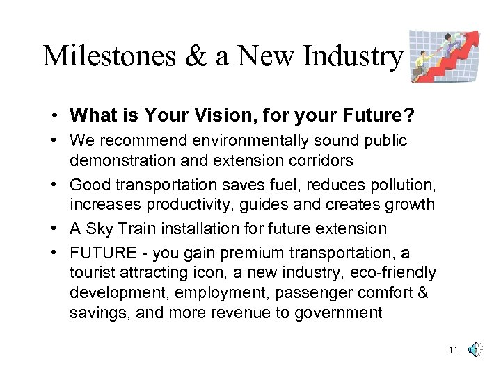 Milestones & a New Industry • What is Your Vision, for your Future? •