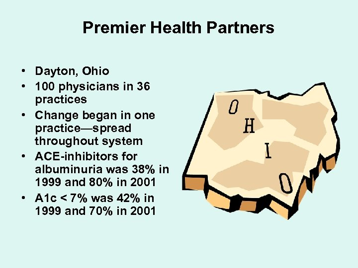 Premier Health Partners • Dayton, Ohio • 100 physicians in 36 practices • Change
