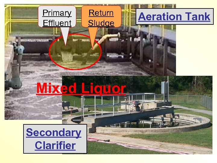 Primary Effluent Return Sludge Mixed Liquor Secondary Clarifier Aeration Tank
