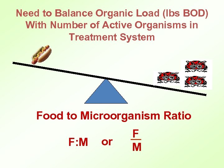 Need to Balance Organic Load (lbs BOD) With Number of Active Organisms in Treatment