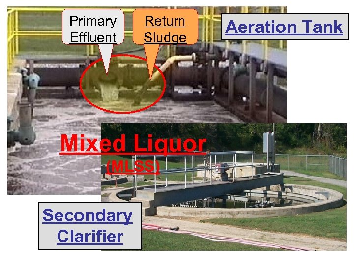 Primary Effluent Return Sludge Mixed Liquor (MLSS) Secondary Clarifier Aeration Tank