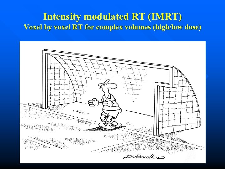 Intensity modulated RT (IMRT) Voxel by voxel RT for complex volumes (high/low dose)