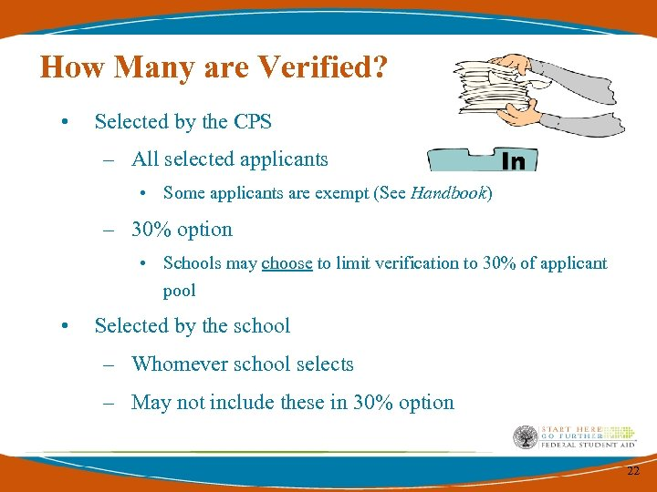How Many are Verified? • Selected by the CPS – All selected applicants •