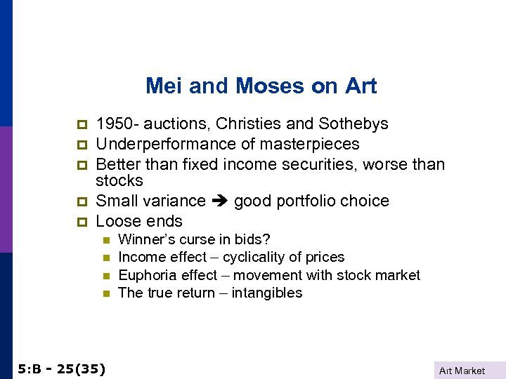 Mei and Moses on Art p p p 1950 - auctions, Christies and Sothebys